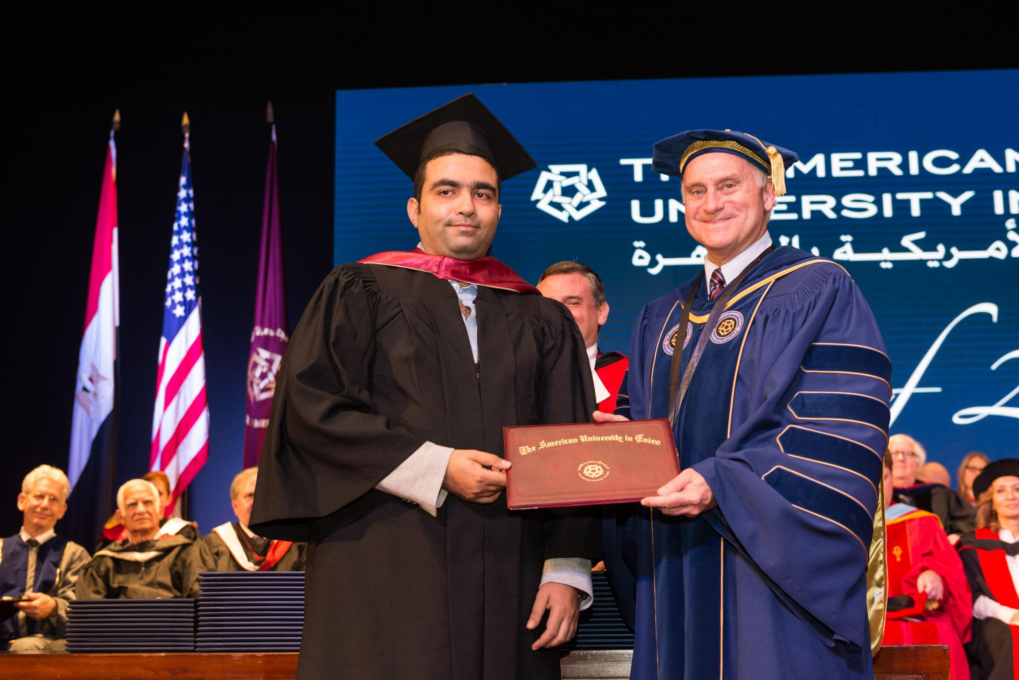 Mohammed Swillam, associate professor in the Department of Physics, received the Faculty Merit Award.