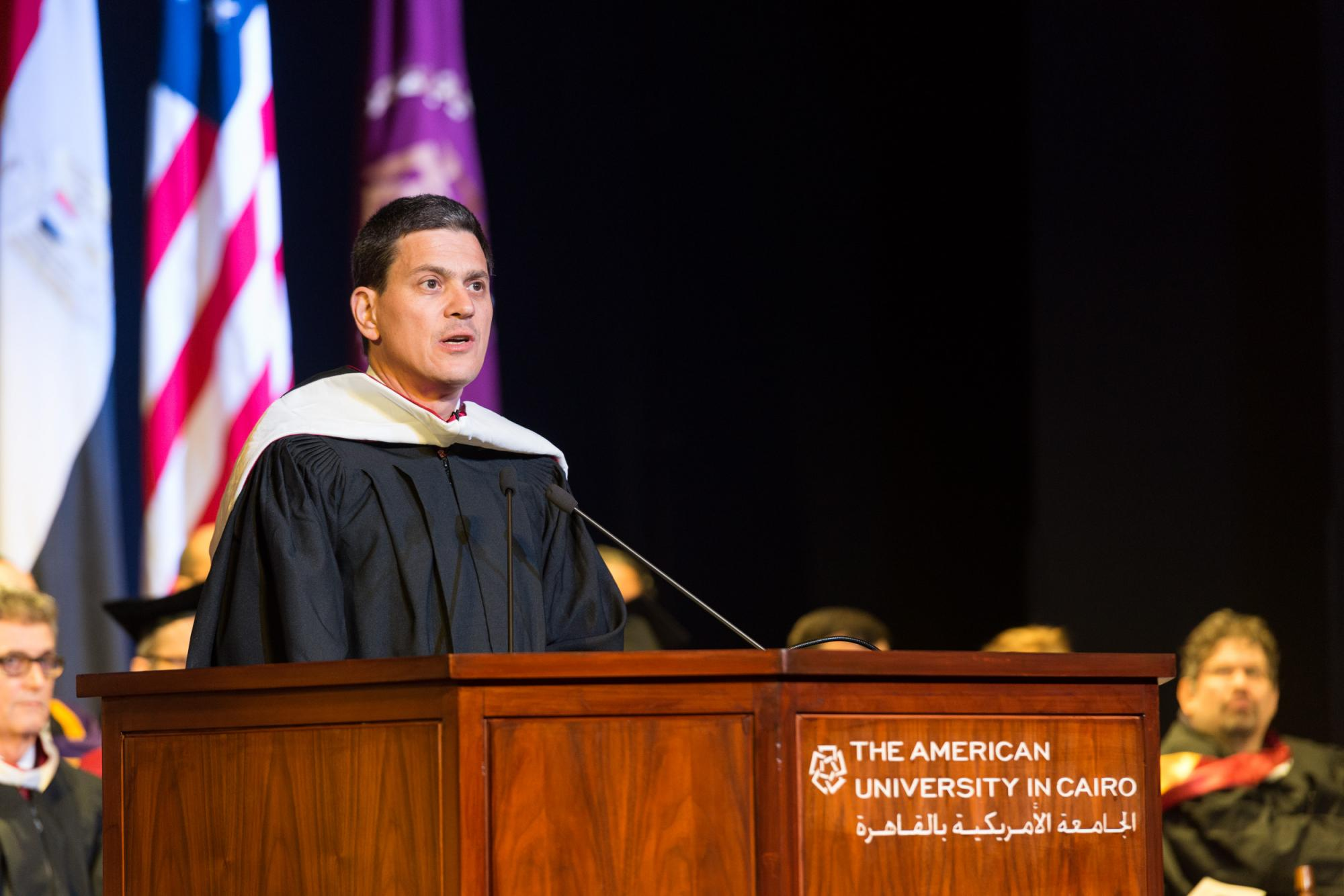 David Miliband delivers keynote speech at the 2017 graduate commencement