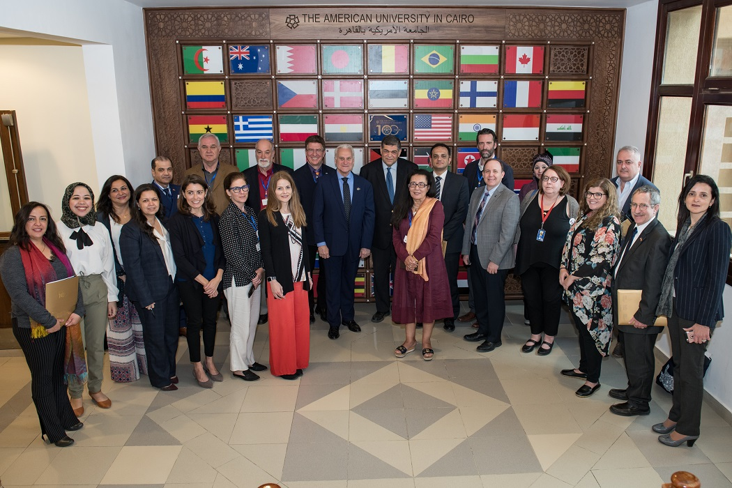 US delegation visit at AUC