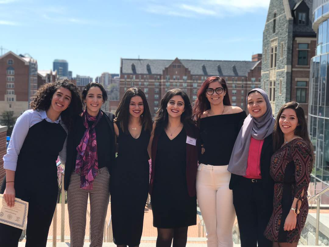 AUC CIMAL students traveled to Washington D.C. to participate in Georgetown University's 34th U.S. National Universities Model Arab League.