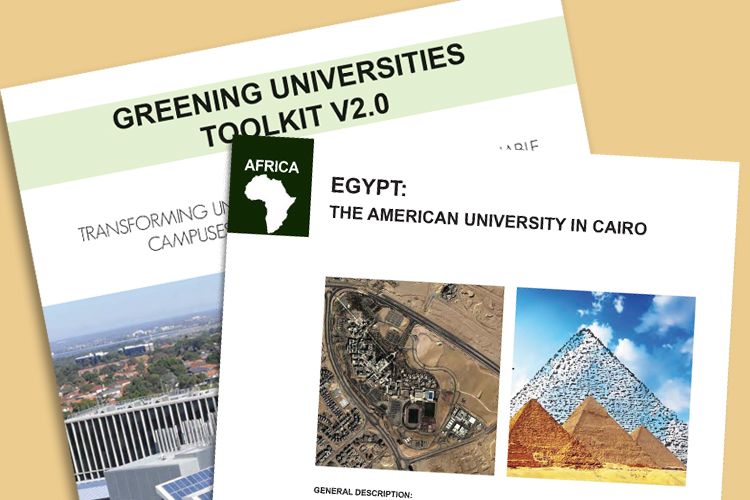AUC is the only university in the region featured in the UNEP's Greening Universities Toolkit