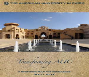 AUC Strategic Plan for Excellence