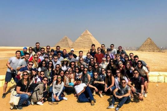 Harvard MBA Students in Egypt