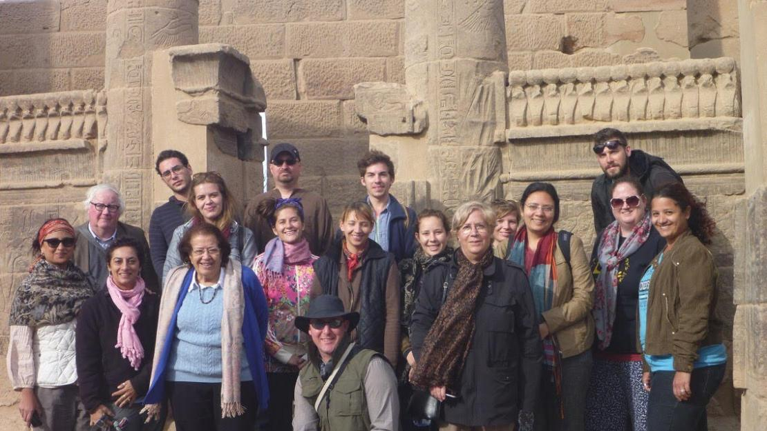AUC Egyptology Unit at the Isis temple at Philæ