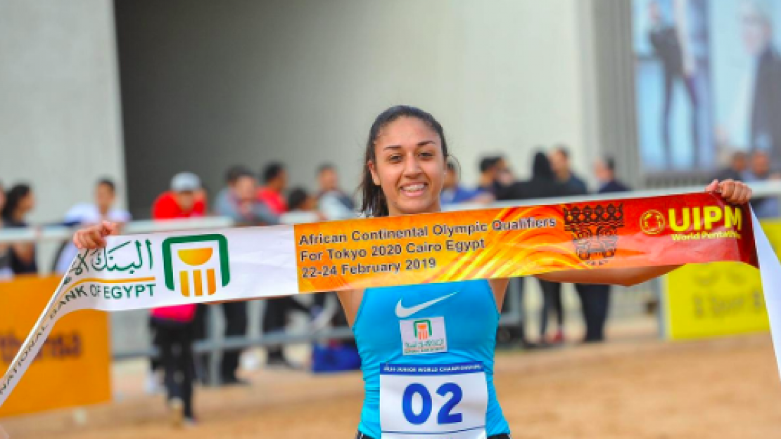 Haydy Morsy at the 2019 Pentathlon African Championships
