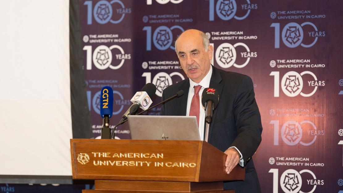 Moataz Al Alfi, long-time supporter of AUC, Chairman of Egypt Kuwait Holding Company and a member of the University's Board of Trustees