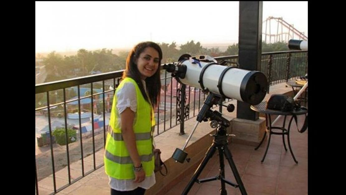 Sandy EL Moghazi helped to conduct research on astronomy at Harvard University