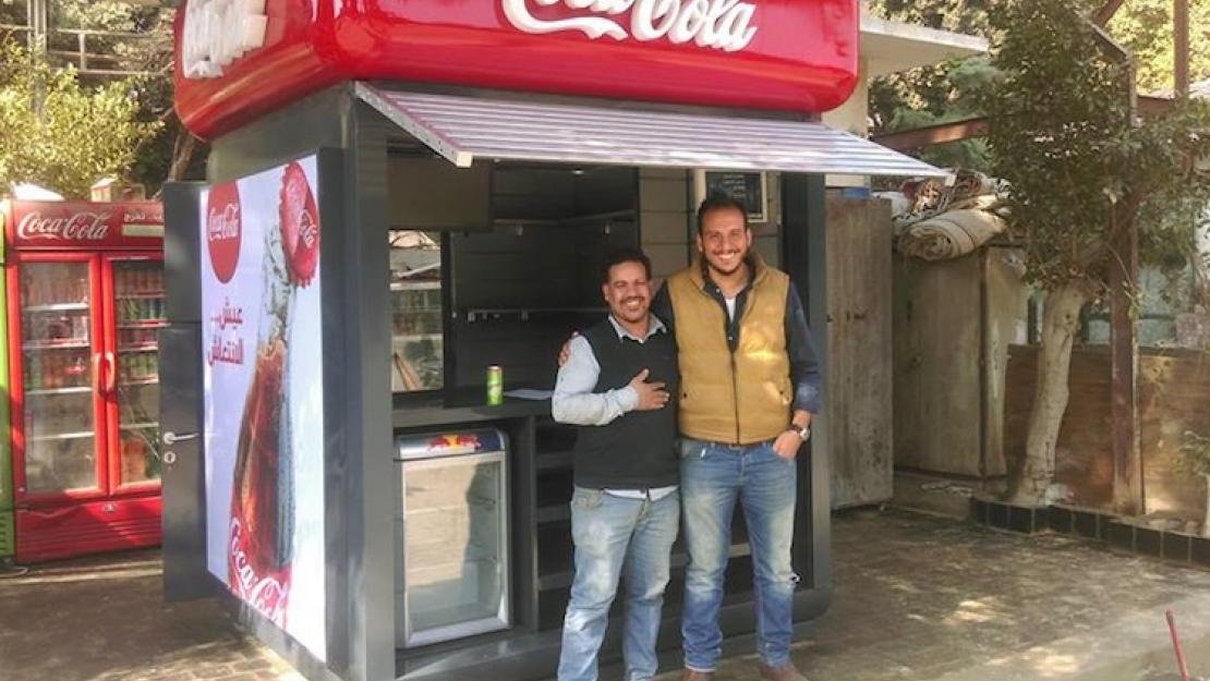 Mahmoud El Shimi, owner of Carnival Victoria kiosk in Maadi, after Tatweer substituted his old kiosk with a new one