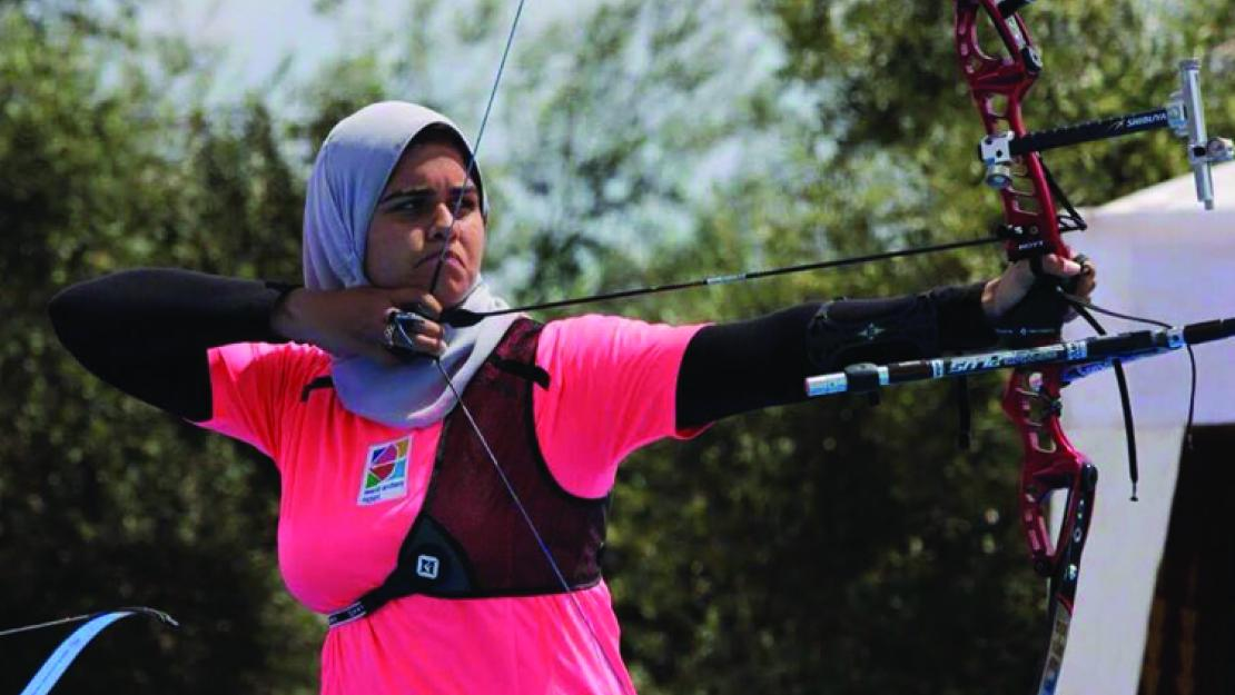 Reem Mansour '15 is the only woman from the Egyptian National Archery Team to qualify for the Olympics