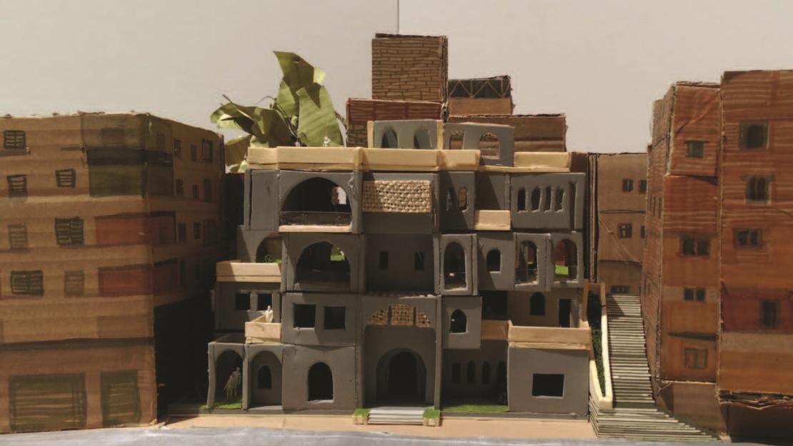 AUC student Maria Medhat created an architectural model for the Made in Egypt project.