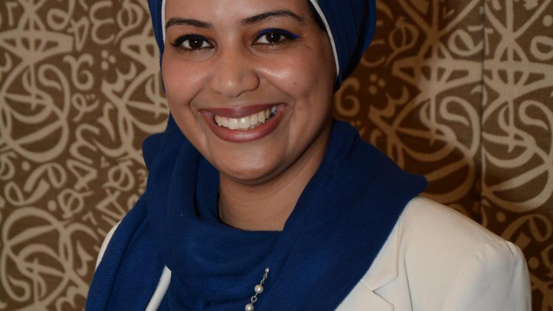 Master's student Eman Motawi is double majoring in community psychology and sustainable development at AUC