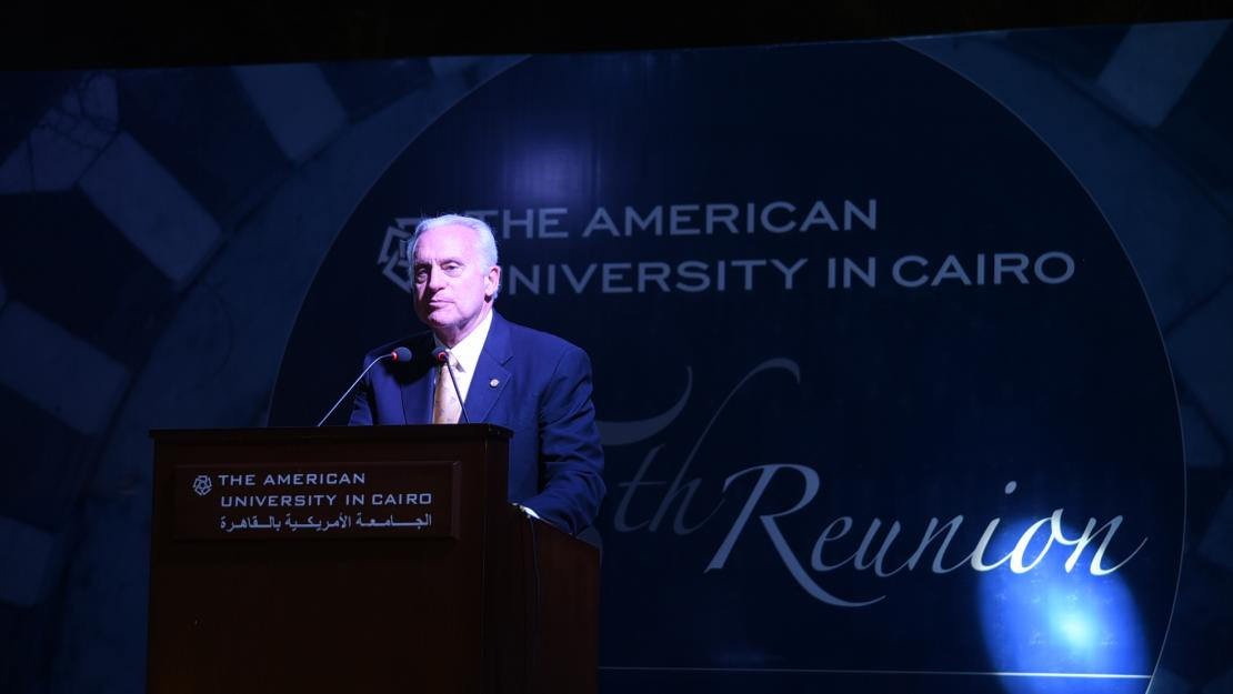 President Francis J. Ricciardone speaks at the Alumni Awards Ceremony