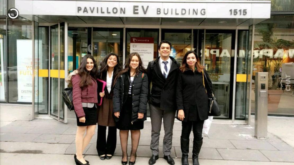 Four AUC undergraduate students competed in the Engineering and Commerce Case Competition