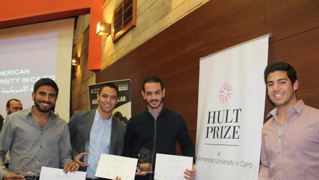 AUC's winning team Nexu will advance to the regional finals of the Hult Prize Challenge