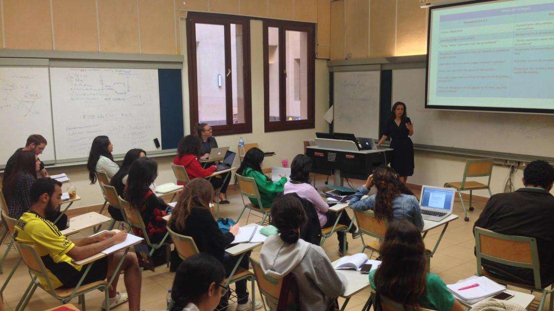 Nagla Rizk teaches CopyrightX to economics students.