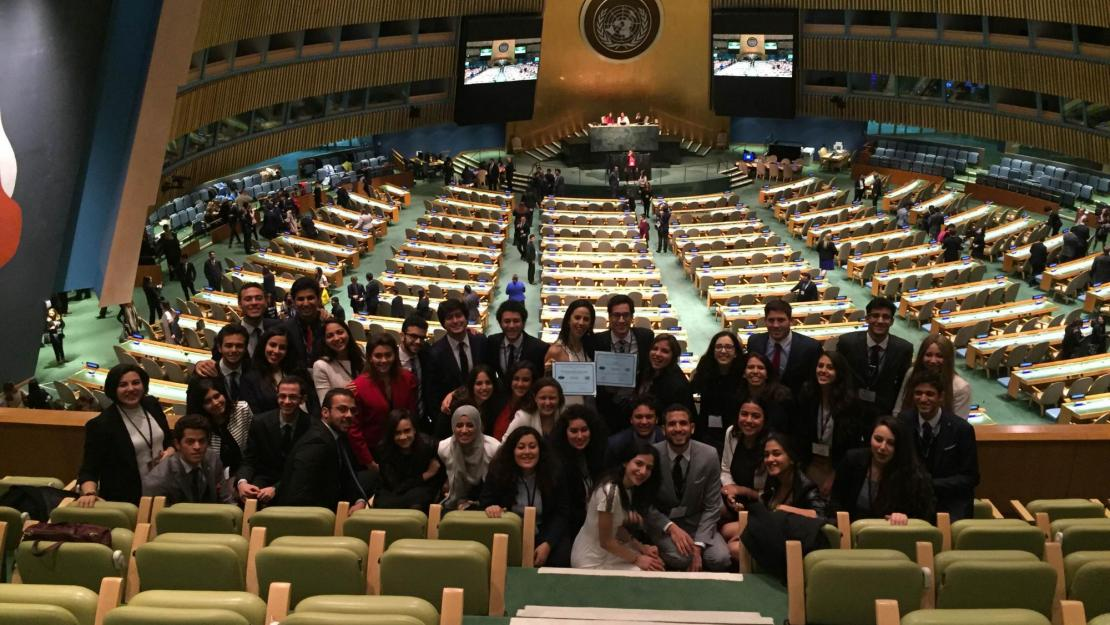 AUC's Model UN delegation visited the United Nations General Assembly