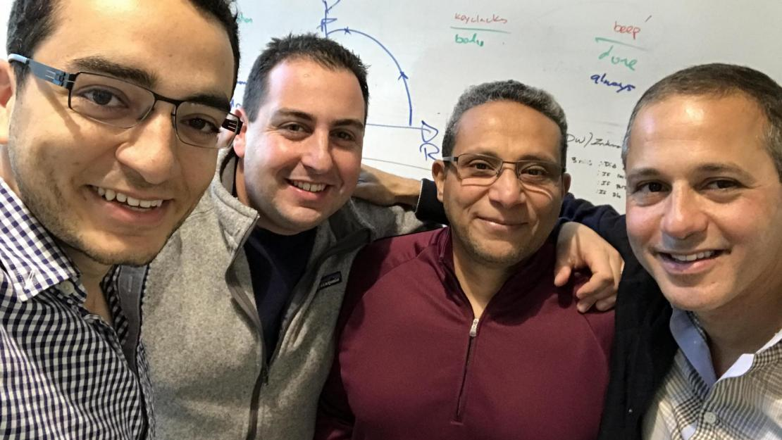 Mohamed El-Geish '07 (left) is a founding member of the Silicon Valley startup, Workfit
