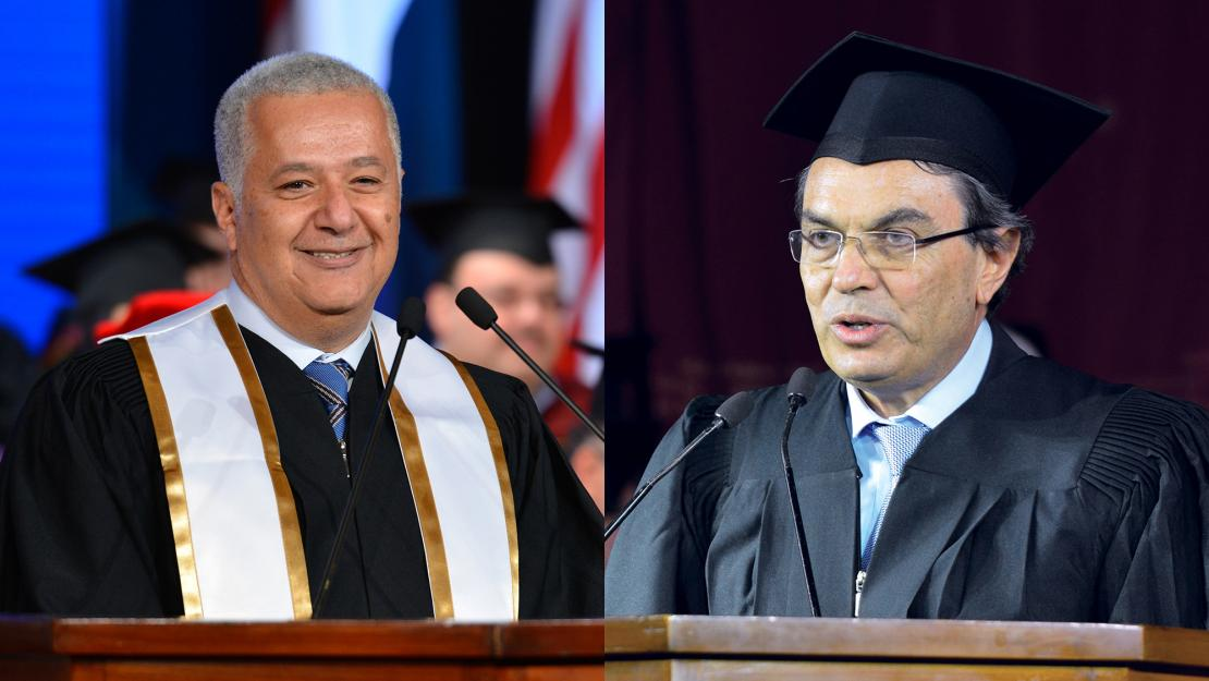 Ali Faramawy and Ayman Asfari were this year's midyear commencement speakers