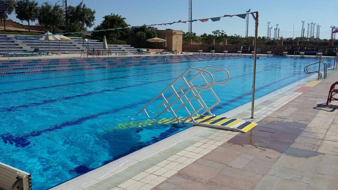 The new staircase at AUC's swimming pool will increase access to the University's facilities