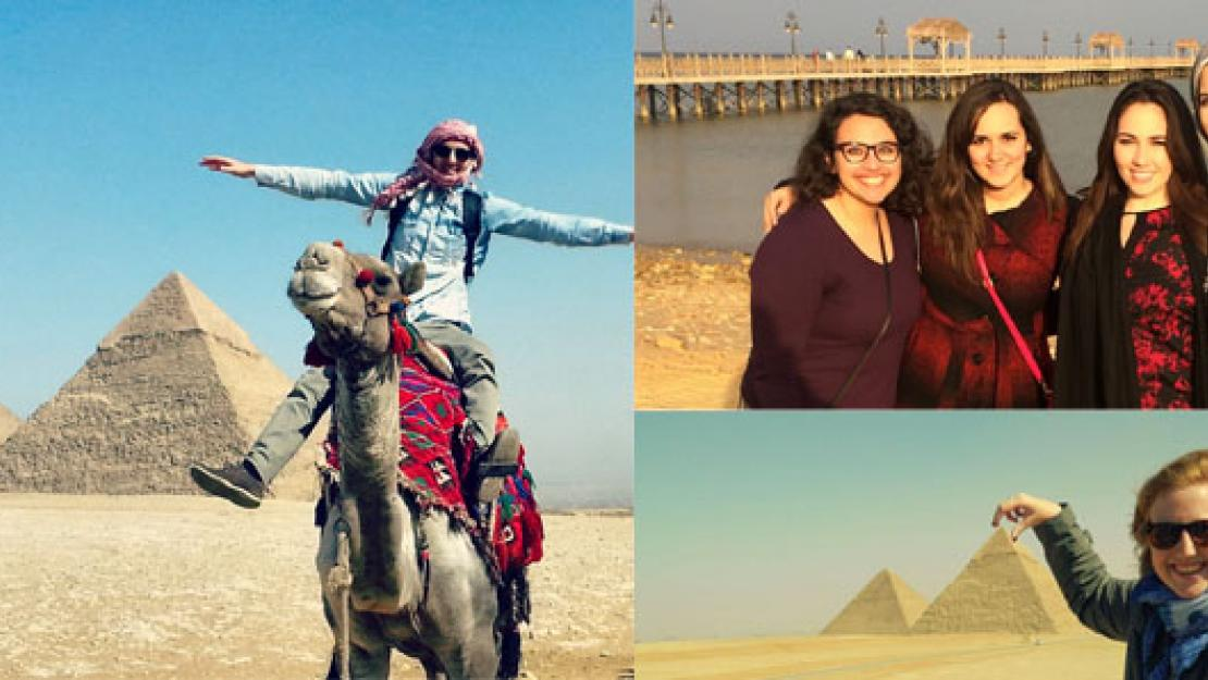 Study Abroad Students at AUC