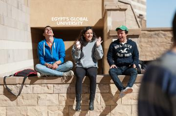 AUC Students on Campus