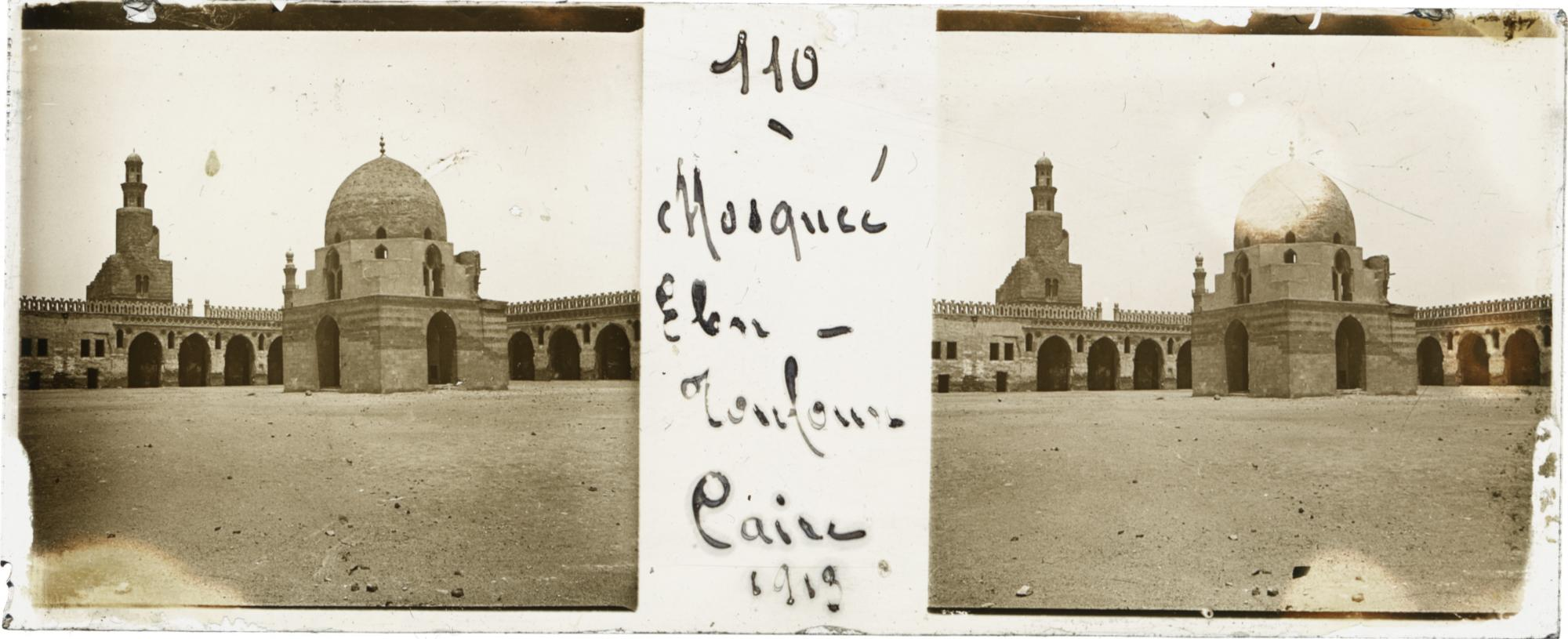 Mosque of Ebn-Touloun : Cairo, 1919, from Taxiphote digitization project.. Photo courtesy of Rare Books and Special Collections Library.